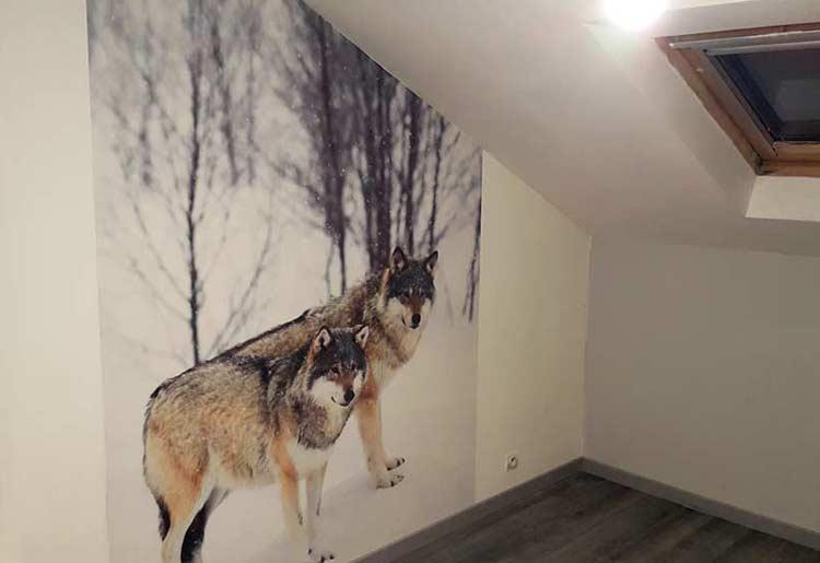 Papier peint chien loup