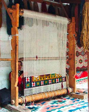 Fabrication d'un kilim