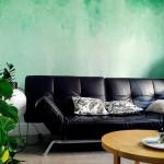 Un lavis d'aquarelle sur le mur d'Agnès