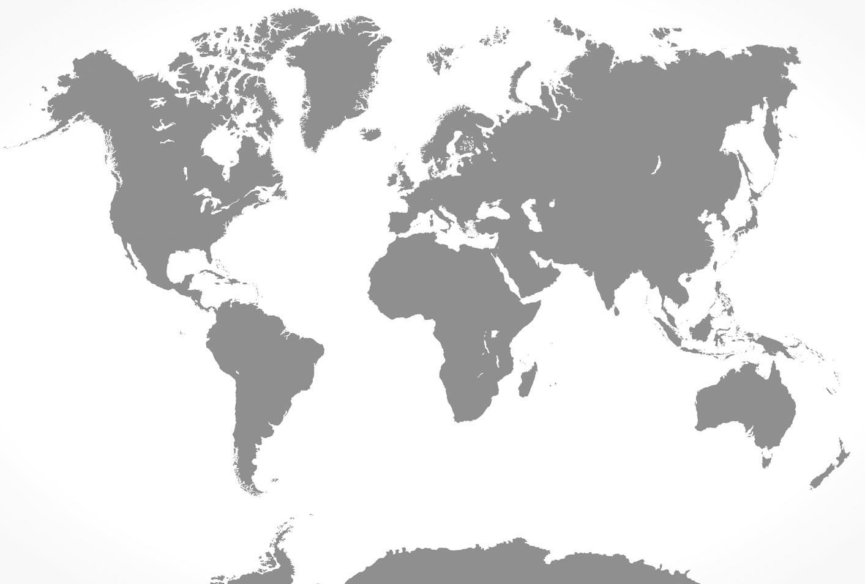 Planisphère géant déco