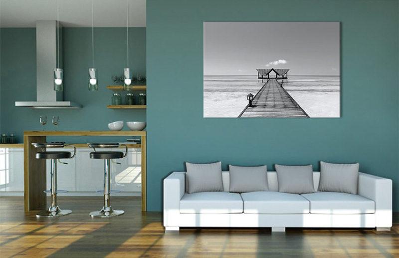 Tableau plage noir et blanc