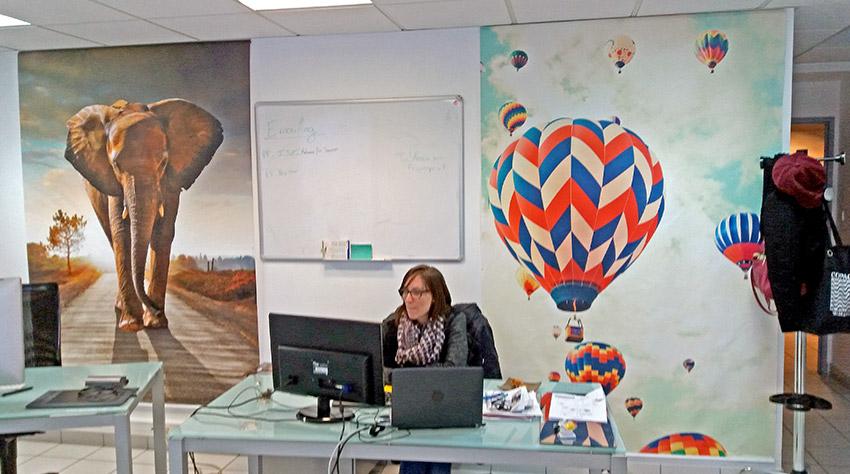 Tentures murale à suspendre derrière son bureau