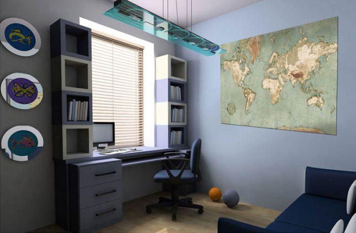 Image déco carte du monde