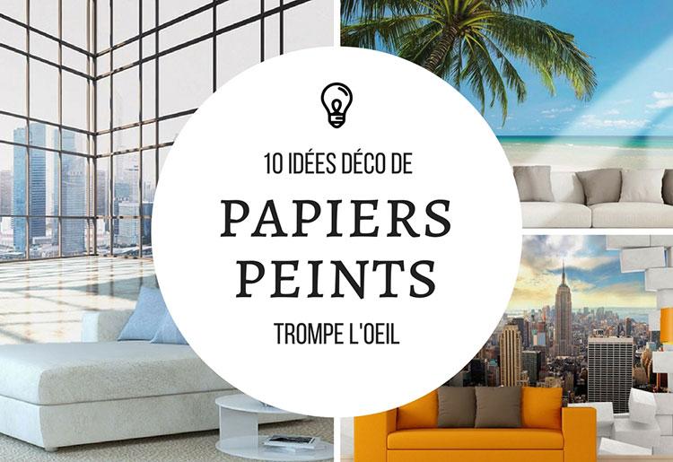 top 10 des trompe l 39 oeil papier peint tapisserie. Black Bedroom Furniture Sets. Home Design Ideas