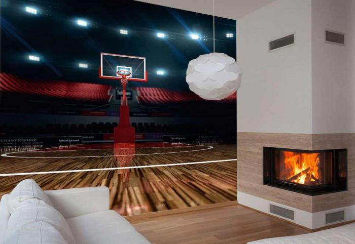 papier peint ambiance basket