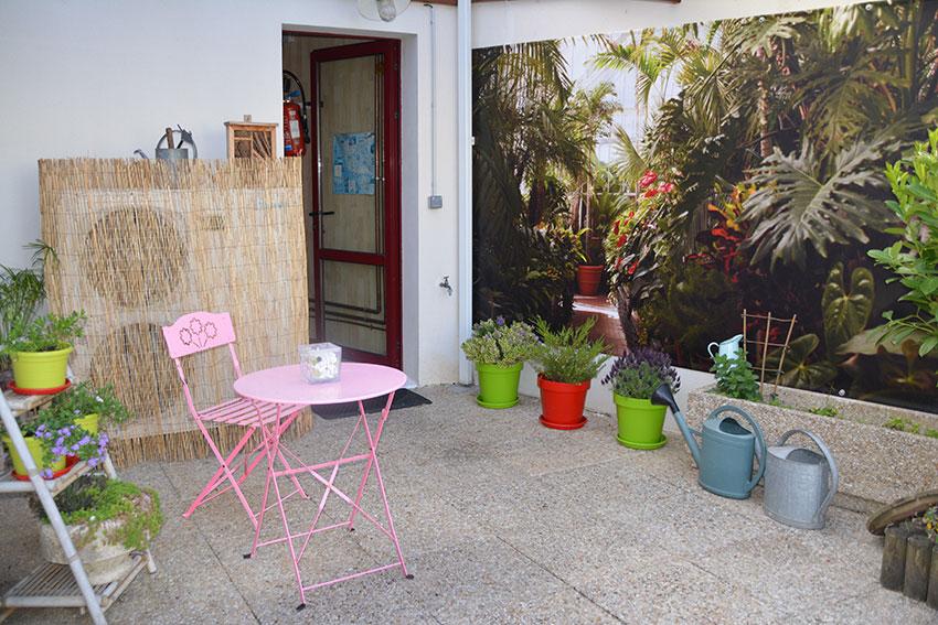 Décoration extérieure en location de vacances