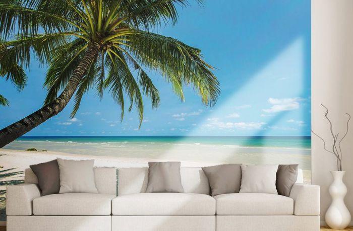 papier peint plage paradis