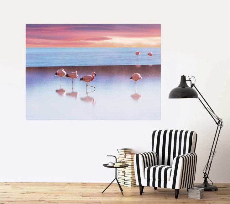 Tableau FLAMANTS ROSE