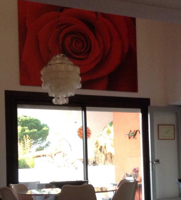 tableau rose rouge