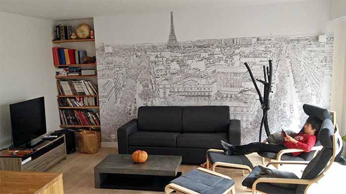 papier peint panoramique paris