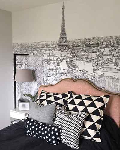 papier peint panoramique tour eiffel