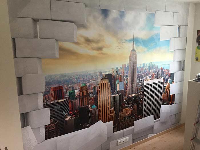 papier peint quartier de Manhattan