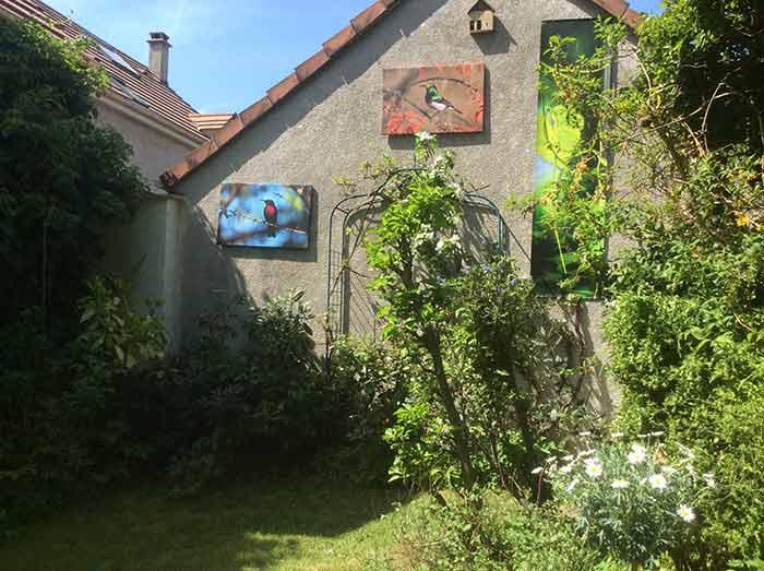 tableaux murs extérieurs et tenture