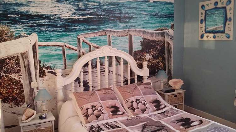 papier peint déco maritime plage
