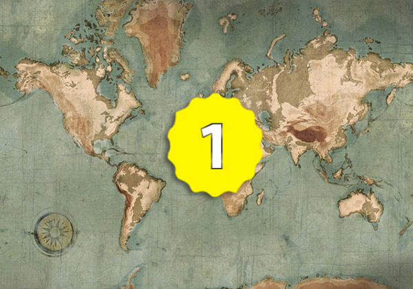 Carte du monde vintage Vintura by Scenolia