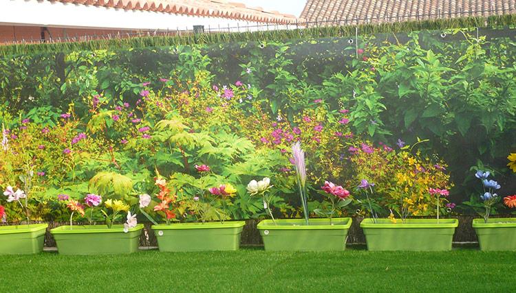 Brise vue jardin fleuri