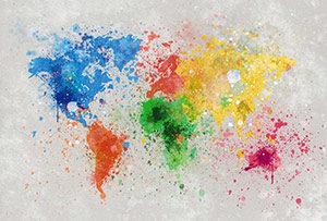 Mappemonde colorée