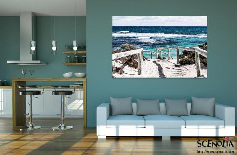 Tableau décoratif plage et mer