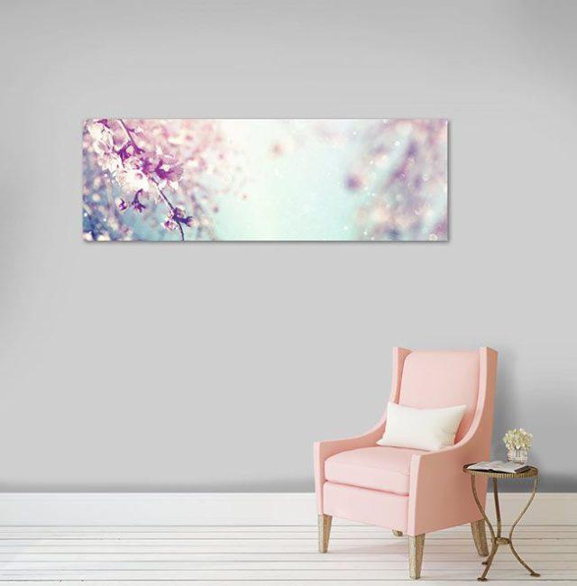 Tableau décoratif fleurs rose du Japon