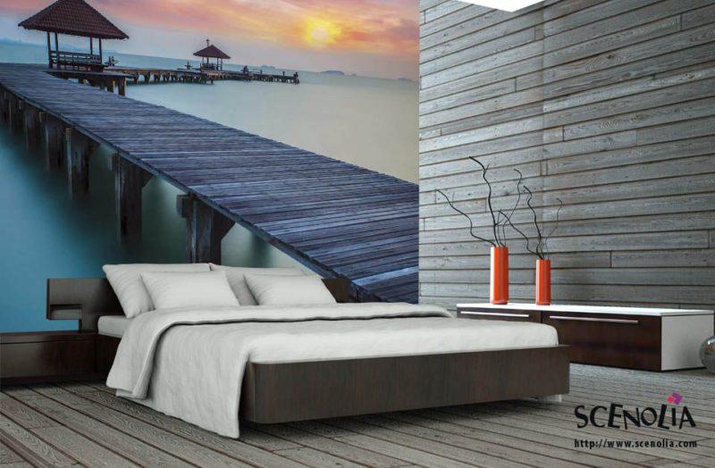 papier peint coucher de soleil mer de chine