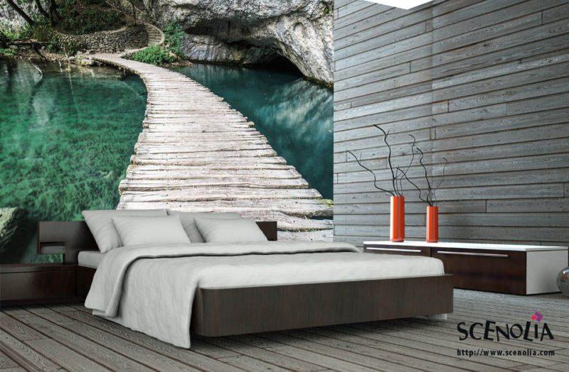 DIY-déco-chambre-papier-peint-Mint-bridge
