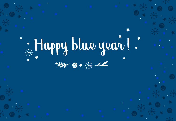 Happy blue year